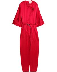 ROKSANDA - Wrap-effect Crinkled Silk-satin Crepe Jumpsuit - Lyst