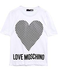 Love Moschino Printed Cotton-jersey T-shirt - White