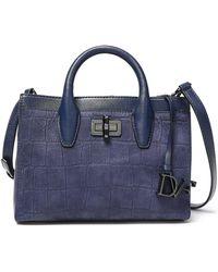 Diane von Furstenberg - Viviana Croc-effect Leather Shoulder Bag - Lyst