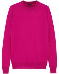 JOSEPH Mélange Cashmere Sweater Fuchsia - Purple