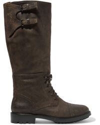 Belstaff - Trailmaster Leather Knee Boots - Lyst