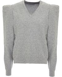 Stella McCartney Melierter Pullover Aus Einer Wollmischung Größe 44 - Grey