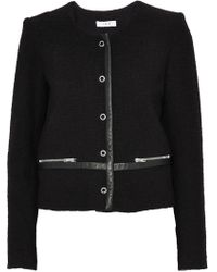 IRO - Leather-trimmed Bouclé-tweed Cotton-blend Jacket - Lyst