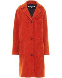 McQ Wool-blend Bouclé Coat Orange
