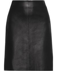Iris & Ink Sofie Leather Skirt Black