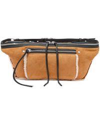 Rag & Bone Elliot Large Shearling-trimmed Suede Belt Bag - Multicolour