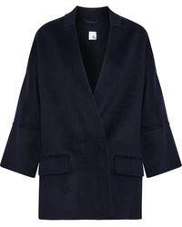 Iris & Ink Dorian Double-breasted Wool-blend Felt Jacket - Blue
