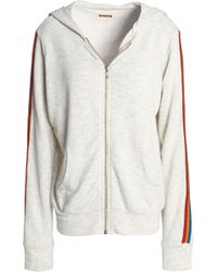 Monrow - Woman Mélange Jersey Hooded Jacket Light Gray Size S - Lyst