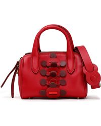 d17fc2471acb Anya Hindmarch - Vere Barrel Mini Appliquéd Leather Shoulder Bag - Lyst
