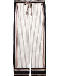 Equipment - Striped Silk-satin Wide-leg Trousers - Lyst