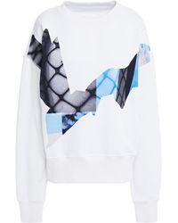 Maison Margiela Printed French Cotton-terry Sweatshirt - White