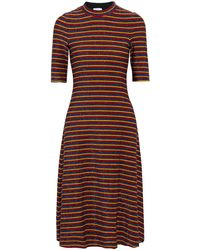 Rosetta Getty Metallic Striped Knitted Dress - Multicolour