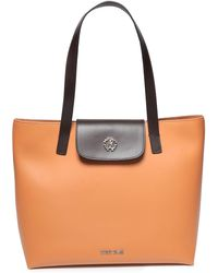 Roberto Cavalli - Two-tone Leather Tote Camel - Lyst