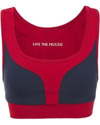 Live The Process - Geometric Zweifarbiger Sport-bh Aus Stretch-supplex® Größe Xs - Lyst