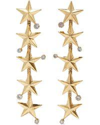 Elizabeth Cole Carter 24-karat Gold-plated Swarovski Crystal Earrings Gold - Metallic