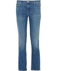 J Brand Maude Halbhohe Jeans Mit Schmalem Bein Größe 23 - Blue