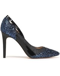 Lucy Choi Glittered And Patent-leather Pumps Bright Blue