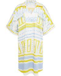 Vivetta Printed Stretch-cotton Poplin Shirt Dress - White