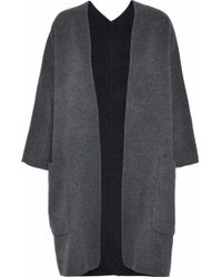 Vince - Wool And Cashmere-blend Cardigan Dark Gray - Lyst