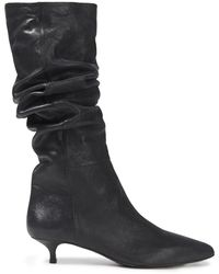 Zimmermann Metallic Leather Boots Black