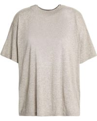 JOSEPH - Knitted Cotton T-shirt - Lyst