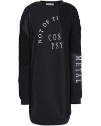 McQ - Patchwork Embroidered Cotton And Modal-blend Mini Dress - Lyst