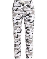 Monrow - Printed Jersey Track Pants - Lyst