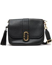 Marc Jacobs - Woman Tasselled Textured-leather Shoulder Bag Black - Lyst