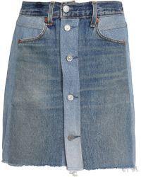Levi's - Two-tone Denim Mini Skirt Mid Denim - Lyst