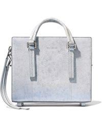 Rick Owens | Textured-leather Shoulder Bag Light Gray | Lyst