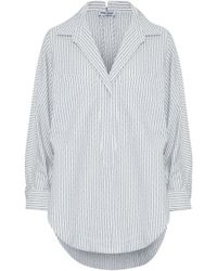 Opening Ceremony Oversized Printed Cotton-blend Shirt - White