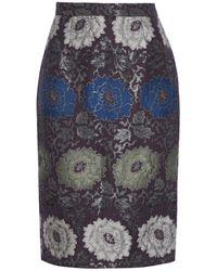 Etro Brocade Pencil Skirt - Multicolour