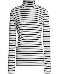 Petit Bateau - Striped Cotton-jersey Turtleneck Top - Lyst