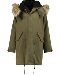 IRO - Faux Fur-trimmed Padded Canvas Parka - Lyst