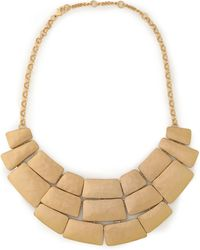 Kenneth Jay Lane - Woman Hammered Gold-tone Necklace Gold Size -- - Lyst