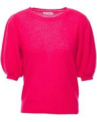 Ulla Johnson Ramia Gathered Cashmere-blend Top - Multicolour