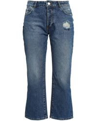 Each x Other Distressed Mid-rise Kick-flare Jeans Mid Denim - Blue