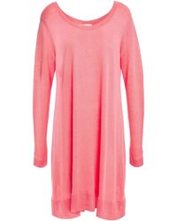 American Vintage Flaxcity Linen-jersey Tunic - Pink