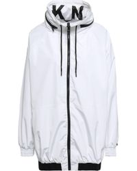DKNY - Shell Hooded Jacket White - Lyst