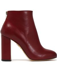Charlotte Olympia - Leather Ankle Boots - Lyst