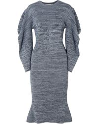 Stella McCartney Marled Cotton Dress Blue
