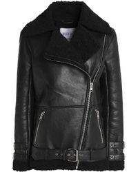 W118 by Walter Baker - Faux Shearling-trimmed Leather Jacket - Lyst