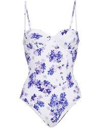 Onia Belle Badeanzug Mit Floralem Print - Weiß