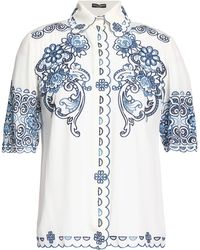 Dolce & Gabbana - Scalloped Broderie Anglaise Shirt - Lyst