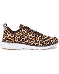 Athletic Propulsion Labs Iconic Pro Sneakers Aus Kalbshaar Mit Leopardenprint Animal-print - Braun