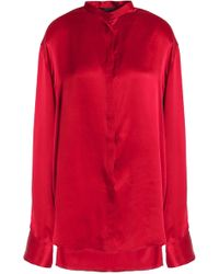 Free Shipping With Mastercard Oversized Silk Crepe De Chine Shirt - Claret Haider Ackermann Good Selling Online Sale Low Cost WxjBFuuHoS