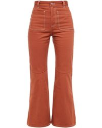 See By Chloé See By Chloé High-rise Kick-flare Jeans Brick - Red