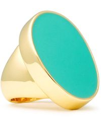 Kenneth Jay Lane Gold-tone Stone Ring Turquoise - Multicolor