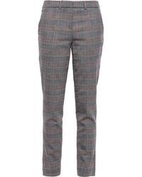 Ba&sh - Gody Prince Of Wales Checked Jacquard Slim-leg Pants Anthracite - Lyst