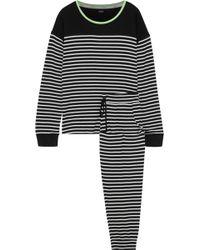 DKNY Printed Stretch-jersey Pyjama Set Black